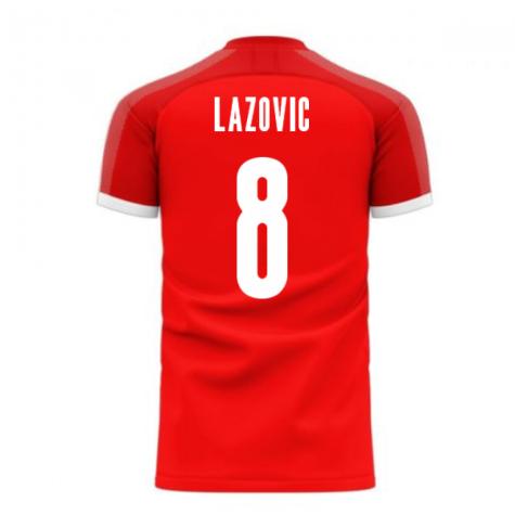 Serbia 2020-2021 Home Concept Football Kit (Libero) (LAZOVIC 8)
