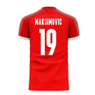 Serbia 2020-2021 Home Concept Football Kit (Libero) (MAKSIMOVIC 19)