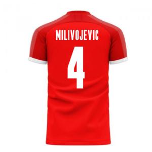 Serbia 2020-2021 Home Concept Football Kit (Libero) (MILIVOJEVIC 4)