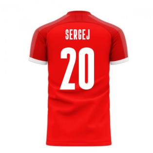 Serbia 2020-2021 Home Concept Football Kit (Libero) (SERGEJ 20)