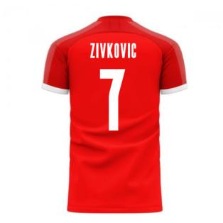 Serbia 2020-2021 Home Concept Football Kit (Libero) (ZIVKOVIC 7)