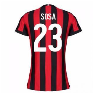 2017-2018 AC Milan Womens Home Shirt (Sosa 23)
