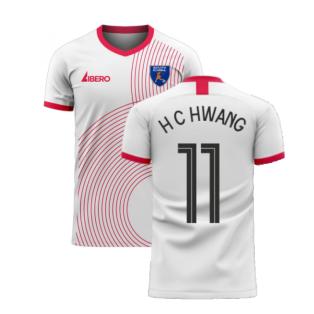 South Korea 2020-2021 Away Concept Football Kit (Libero) (H C HWANG 11)