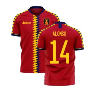 Spain 2020-2021 Home Concept Football Kit (Libero) (ALONSO 14)