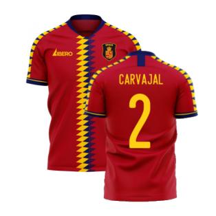 Spain 2020-2021 Home Concept Football Kit (Libero) (CARVAJAL 2)
