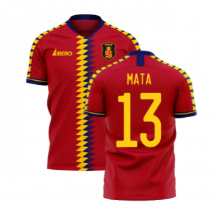 Spain 2020-2021 Home Concept Football Kit (Libero) (MATA 13)