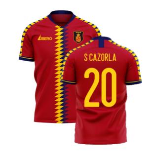 Spain 2020-2021 Home Concept Football Kit (Libero) (S CAZORLA 20)