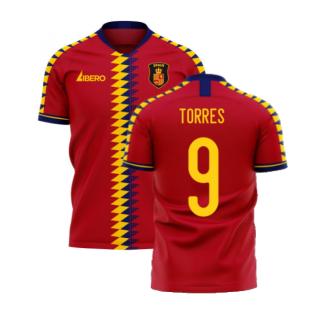 Spain 2020-2021 Home Concept Football Kit (Libero) (TORRES 9)