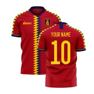 Spain 2020-2021 Home Concept Football Kit (Libero) (Your Name)
