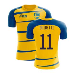 Sweden 2020-2021 Home Concept Football Kit (Airo) (GUIDETTI 11)