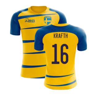 Sweden 2020-2021 Home Concept Football Kit (Airo) (KRAFTH 16)