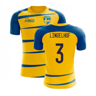 Sweden 2020-2021 Home Concept Football Kit (Airo) (LINDELHOF 3)