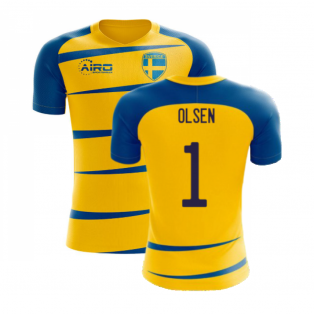 Sweden 2020-2021 Home Concept Football Kit (Airo) (OLSEN 1)