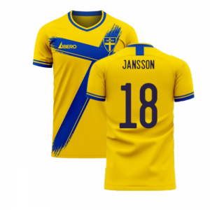 Sweden 2020-2021 Home Concept Football Kit (Libero) (JANSSON 18)