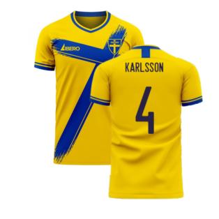 Sweden 2020-2021 Home Concept Football Kit (Libero) (KARLSSON 4)