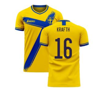 Sweden 2020-2021 Home Concept Football Kit (Libero) (KRAFTH 16)