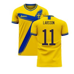 Sweden 2020-2021 Home Concept Football Kit (Libero) (LARSSON 11)