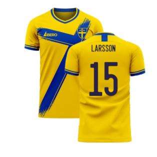 Sweden 2020-2021 Home Concept Football Kit (Libero) (LARSSON 15)