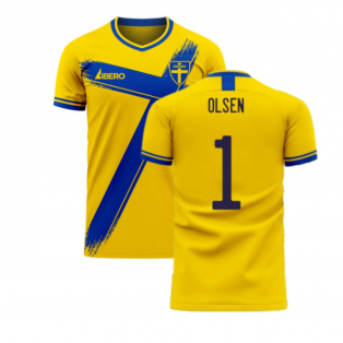 Sweden 2020-2021 Home Concept Football Kit (Libero) (OLSEN 1)