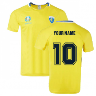 Sweden 2021 Polyester T-Shirt (Yellow) (Your Name)