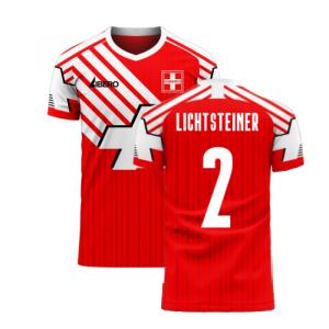 Switzerland 2020-2021 Retro Concept Football Kit (Libero) (LICHTSTEINER 2)