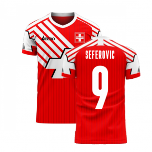 Switzerland 2020-2021 Retro Concept Football Kit (Libero) (SEFEROVIC 9)