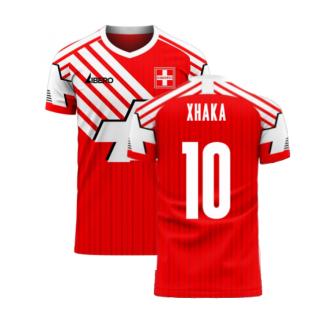 Switzerland 2020-2021 Retro Concept Football Kit (Libero) (XHAKA 10)