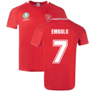 Switzerland 2021 Polyester T-Shirt (Red) (EMBOLO 7)