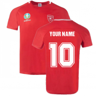 Switzerland 2021 Polyester T-Shirt (Red) (Your Name)