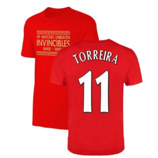 The Invincibles 49 Unbeaten T-Shirt (Red) (TORREIRA 11)