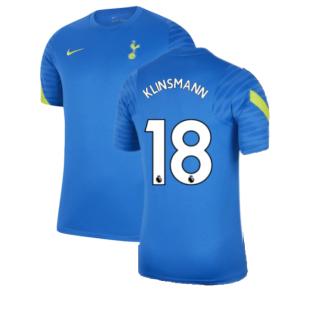 Tottenham 2021-2022 Training Shirt (Blue) (KLINSMANN 18)