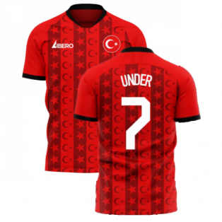 Turkey 2020-2021 Home Concept Football Kit (Libero) (UNDER 7)
