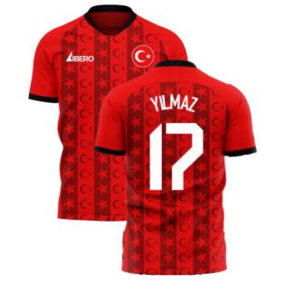 Turkey 2020-2021 Home Concept Football Kit (Libero) (YILMAZ 17)