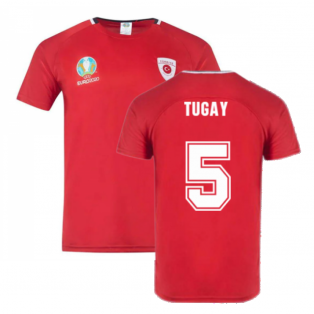 Turkey 2021 Polyester T-Shirt (Red) (TUGAY 5)