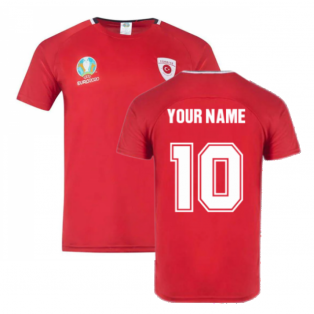Turkey 2021 Polyester T-Shirt (Red) (Your Name)
