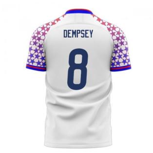 USA 2020-2021 Home Concept Football Kit (Libero) (DEMPSEY 8)
