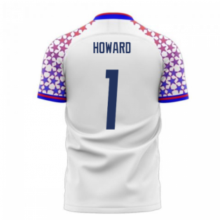 USA 2020-2021 Home Concept Football Kit (Libero) (HOWARD 1)