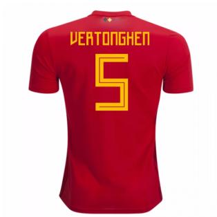 2018-2019 Belgium Adidas Home Shirt (Vertonghen 5) - Kids