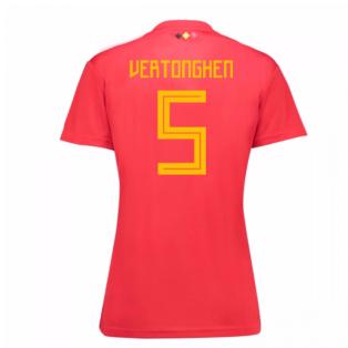 2018-19 Belgium Home Womens Shirt (Vertonghen 5)