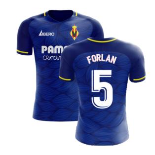 Villarreal 2020-2021 Away Concept Football Kit (Libero) (FORLAN 5)