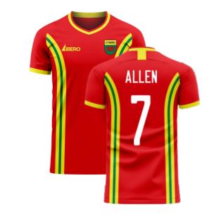 Wales 2020-2021 Home Concept Football Kit (Libero) (ALLEN 7)