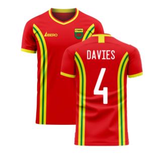 Wales 2020-2021 Home Concept Football Kit (Libero) (DAVIES 4)