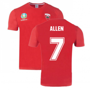 Wales 2021 Polyester T-Shirt (Red) (ALLEN 7)