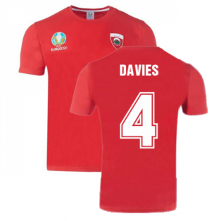 Wales 2021 Polyester T-Shirt (Red) (DAVIES 4)