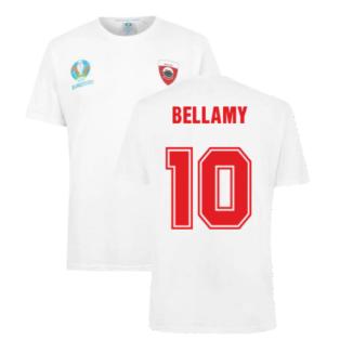Wales 2021 Polyester T-Shirt (White) (BELLAMY 10)