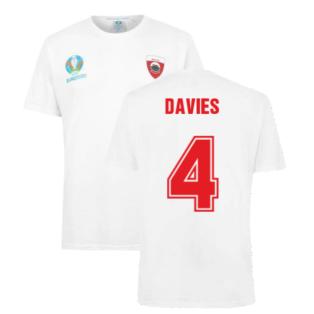 Wales 2021 Polyester T-Shirt (White) (DAVIES 4)