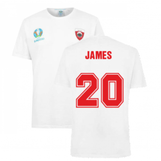 Wales 2021 Polyester T-Shirt (White) (JAMES 20)