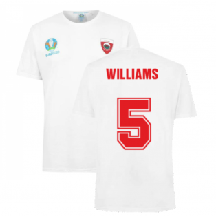 Wales 2021 Polyester T-Shirt (White) (WILLIAMS 5)