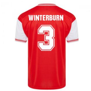 Score Draw Arsenal 1985 Centenary Retro Football Shirt (WINTERBURN 3)