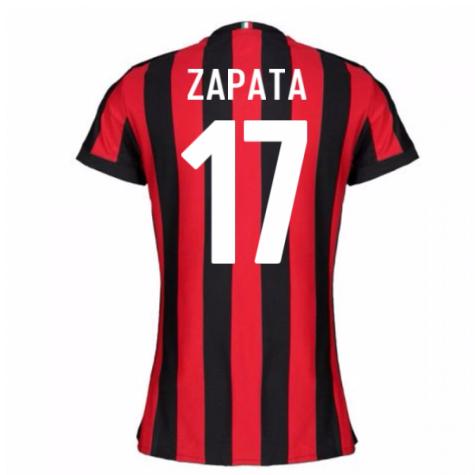2017-2018 AC Milan Womens Home Shirt (Zapata 17)